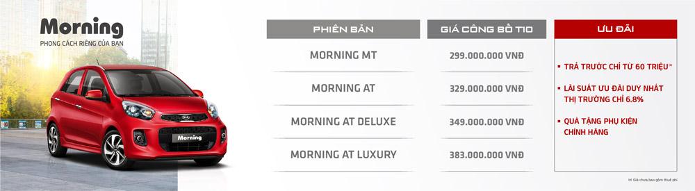 Khuyến mãi xe Kia Morning tháng 10/2020