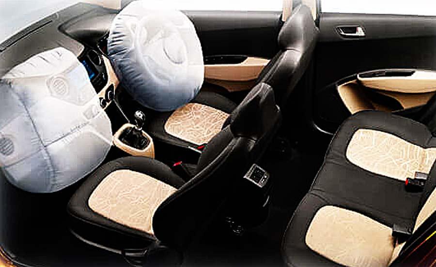 Xe Hyundai Grand i10 được trang bị túi khí đôi - An toàn cho người sử dụng.