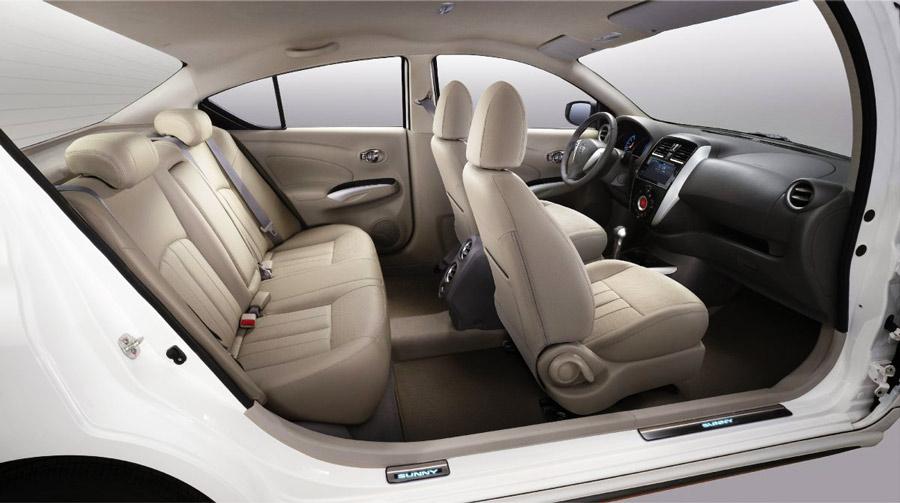Tổng quan nội thất của Nissan Sunny