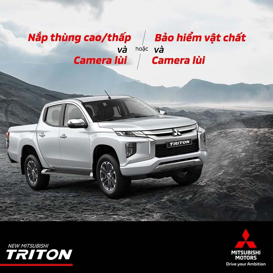 Quà tặng hấp dẫn với Mitsubishi Triton All New