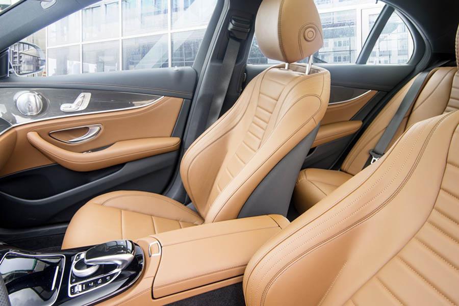 Ghế da Nappa cao cấp trên Mercedes E200 Sport và E350 AMG