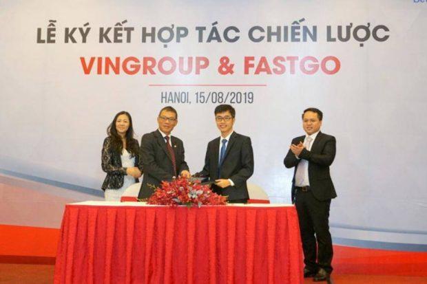 VinGroup và FastGo ký kết hợp tác chiến lược gọi xe công nghệ