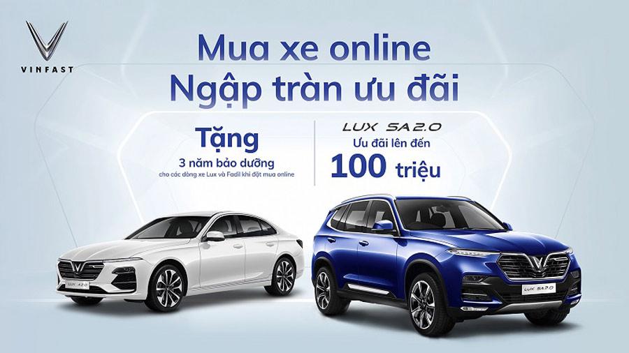 Đặc biệt: mua xe online với rất nhiều khuyến mãi & ưu đãi