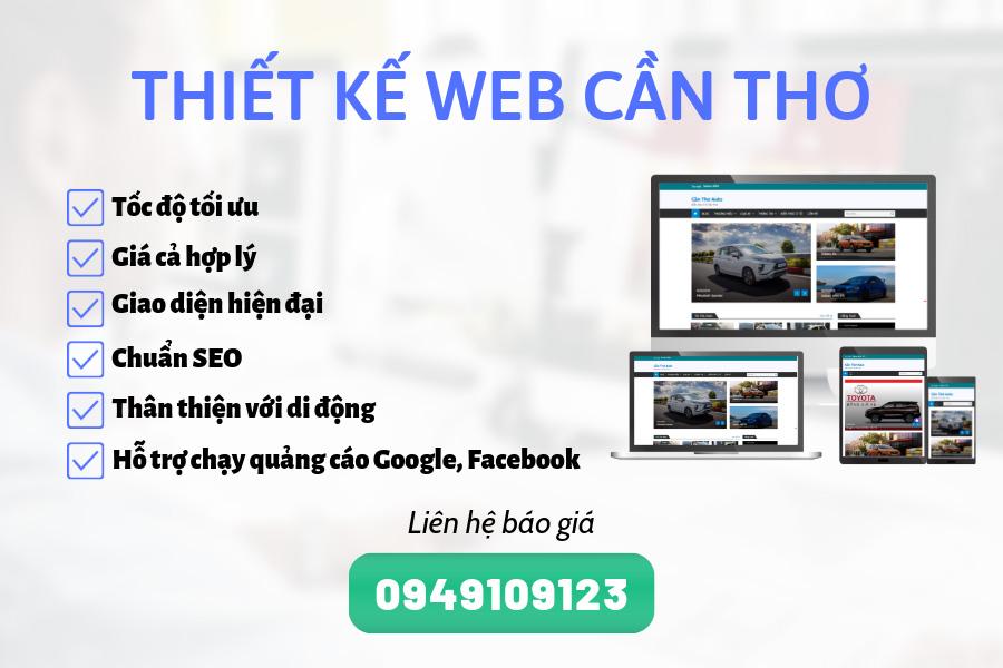 Thiết kế Website Chuyên nghiệp Cần Thơ