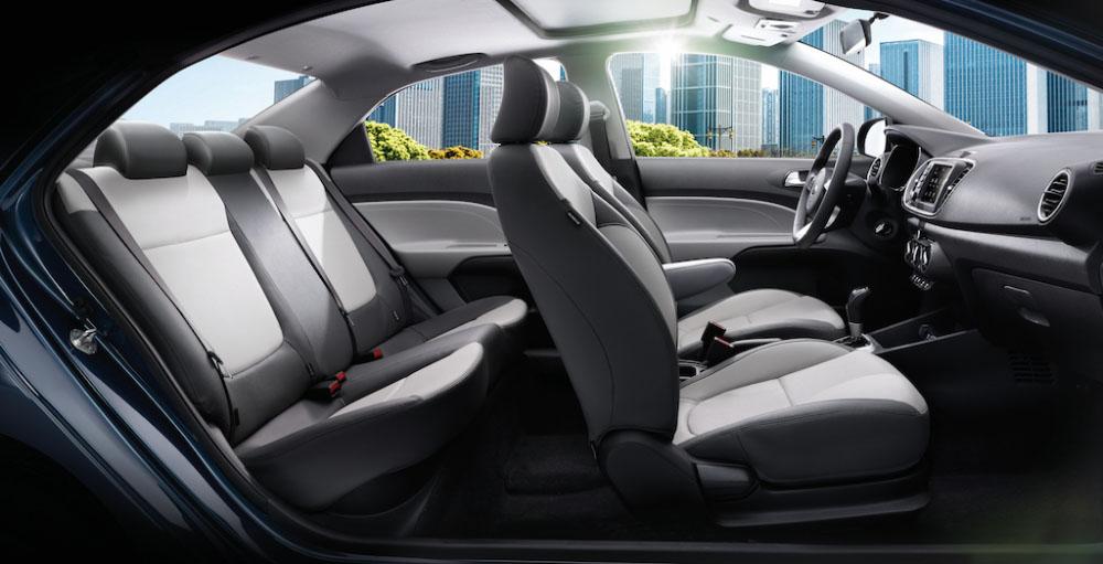 Không gian nội thất ghế ngồi trên Kia Soluto