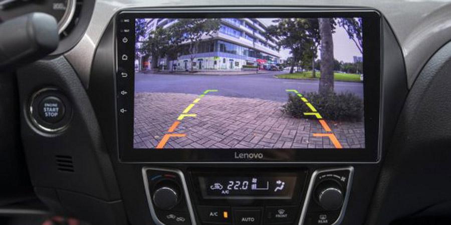 Camera hành trình trước sau tích hợp hỗ trợ lùi có thước đo và góc camera rộng