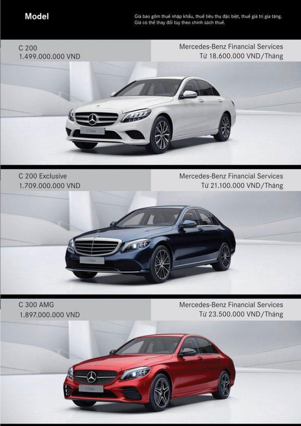 Bảng giá xe Mercedes C
