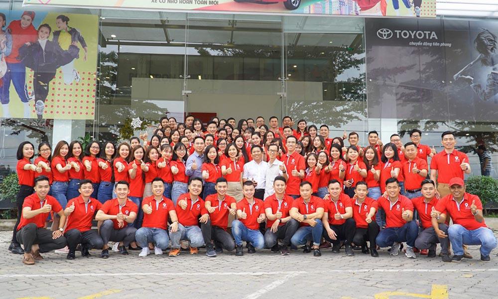 Đội ngũ nhân viên chuyên nghiệp của Toyota Kiên Giang