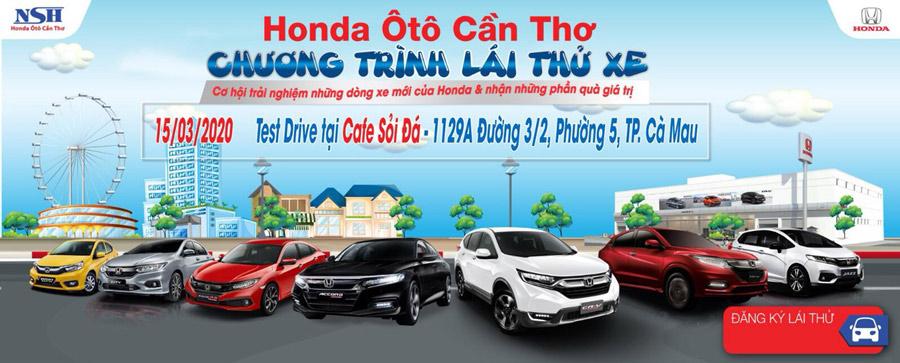 Chương trình lái thử xe Honda ô tô Cà Mau