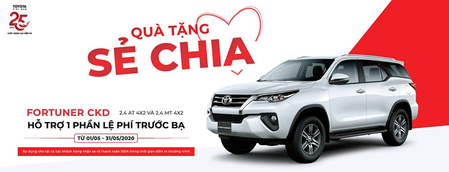 khuyen mai toyota fortuner thang 5 2020 can tho