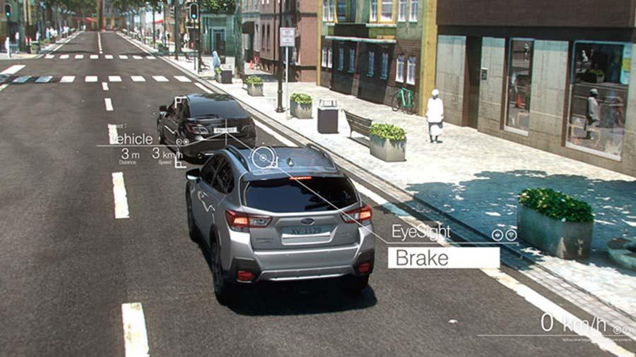 EyeSight sẽ nhận biết được các phương tiện bắt đầu di chuyển để cảnh báo người lái