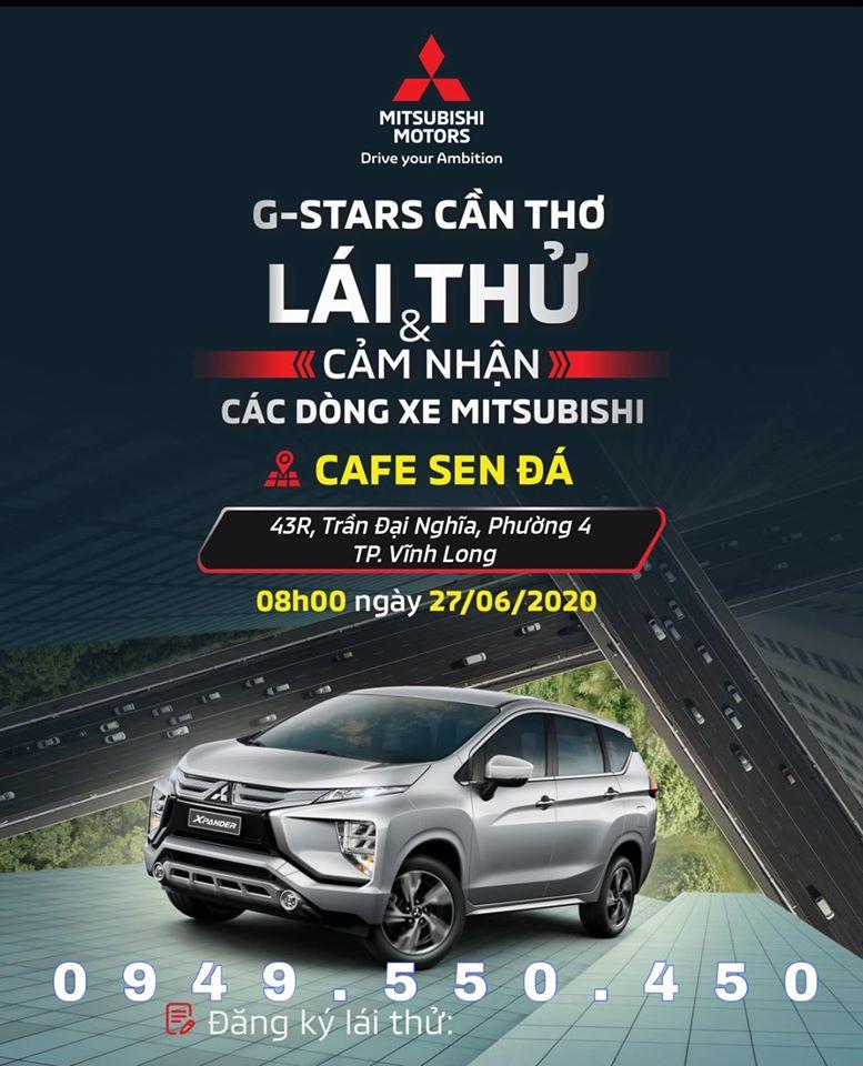 Chương trình giới thiệu, trải nghiệm & lái thử các dòng xe Mitsubishi tại Tp. Vĩnh Long. Hỗ trợ mua xe trả góp lãi suất hấp dẫn. Nhiều phần quà và khuyến mãi mới.
