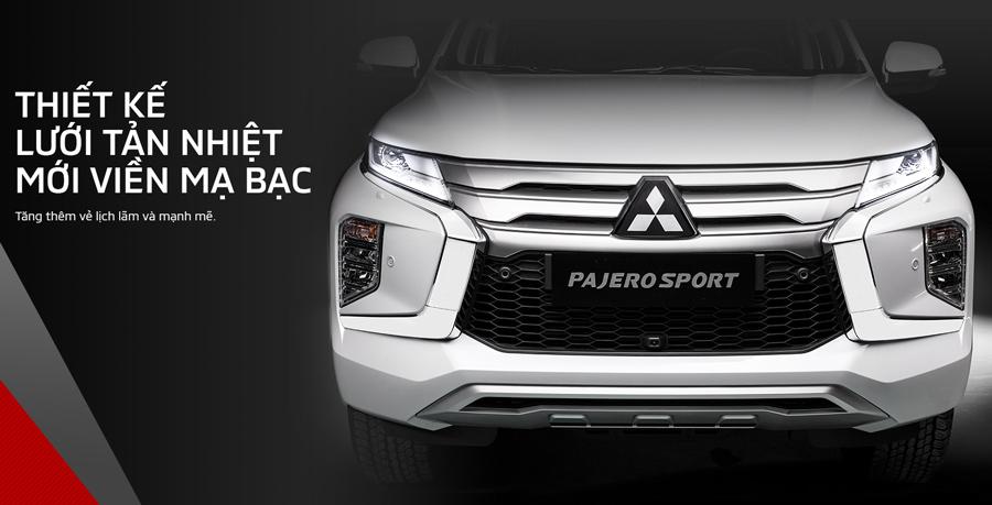 New Pajero Sport 2020 có thiết kế lưới tản nhiệt mới viền mạ bạc