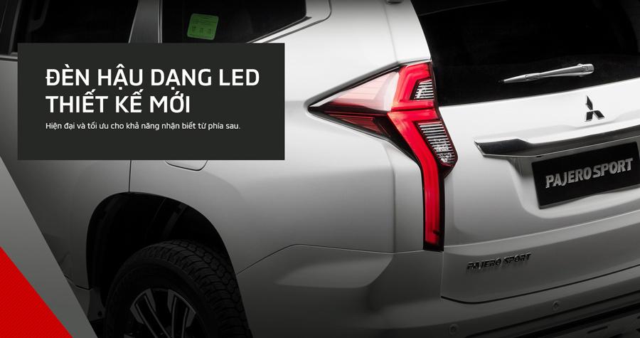 Đèn hậu dạng LED thiết kế mới. Hiện đại và tối ưu cho khả năng nhận biết từ phía sau.