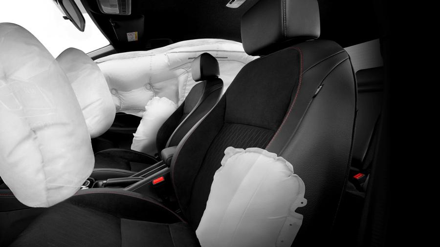 Hệ thống 06 túi khí giúp đảm bảo an toàn cho người lái và người đồng hành