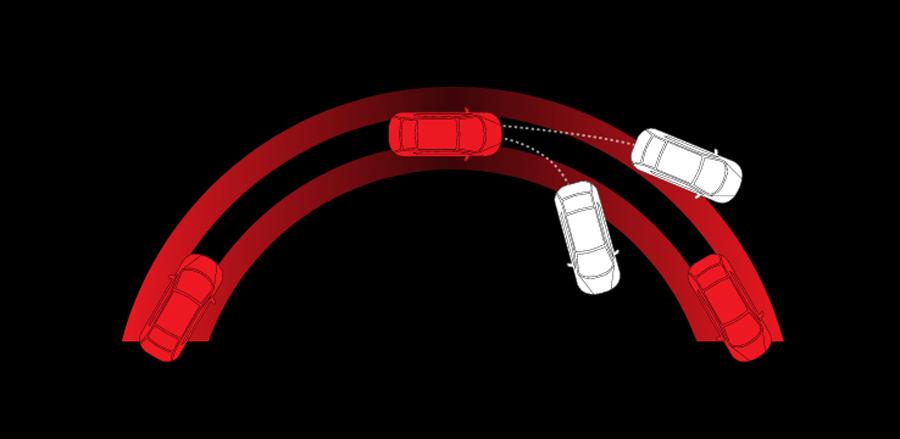 Hệ thống cân bằng điện tử (VSA) kiểm soát những thay đổi đột ngột, giữ cho xe luôn trong tầm kiểm soát của người lái.