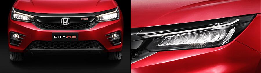 Mặt trước xe với thiết kế ốp ca lăng hình đôi cánh & Cụm đèn trước Full LED rất ấn tượng