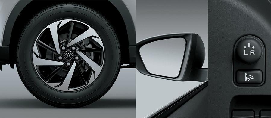 Mâm xe 17 inch mang đến hình ảnh cân đối, năng động cho chiếc xe khi nhìn từ bên hông.