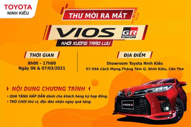 Ra mắt Toyota Vios 2021 tại Toyota Ninh Kiều Cần Thơ