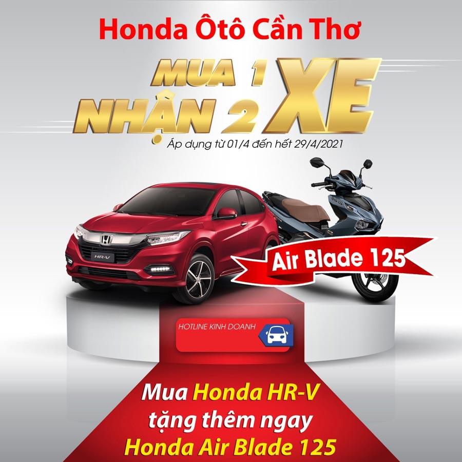 Khuyến mãi khi mua Honda HR-V - Tặng Honda Air Blade 125