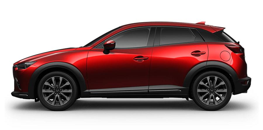 Thân xe Mazda CX-3 được thiết kế mạnh mẽ