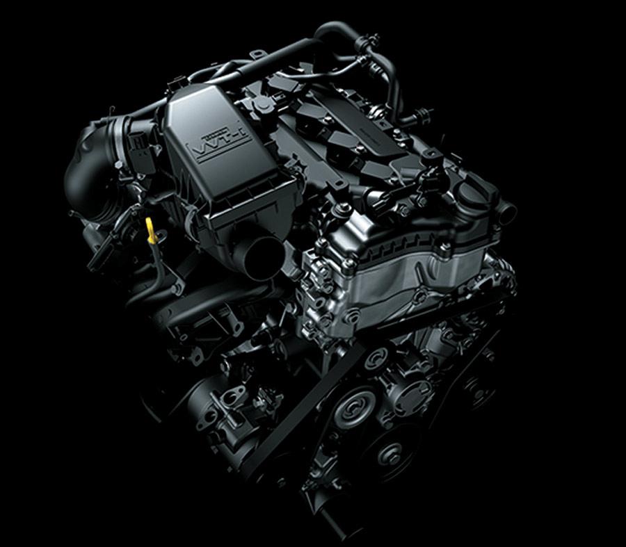 Động cơ VVT - i kép cho hiệu suất cao, tiết kiệm nhiên liệu và thân thiện với môi trường.