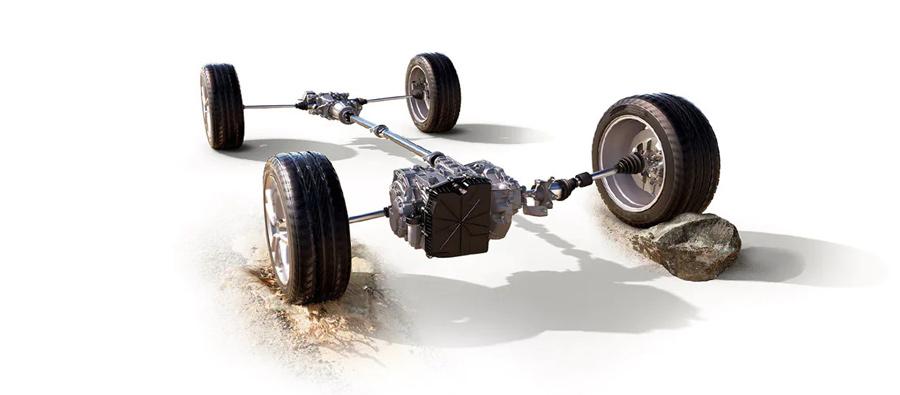Hệ thống kiểm soát dẫn động 4 bánh thông minh kết hợp Kiểm soát đường địa hình